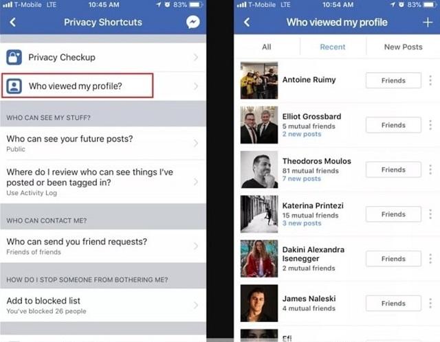 """Kích hoạt mục""""who viewed My Profile"""" để hiển thị danh sách người thường xuyên vào Facebook bạn."""