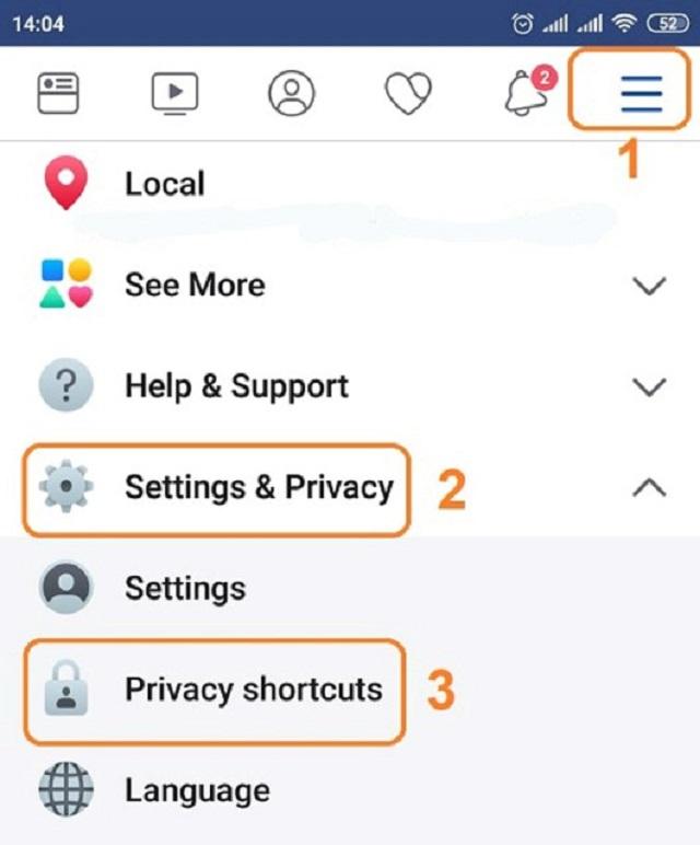 Trong mụcSetting & Privacy, nhấp chuột vào Privacy Shortcuts.