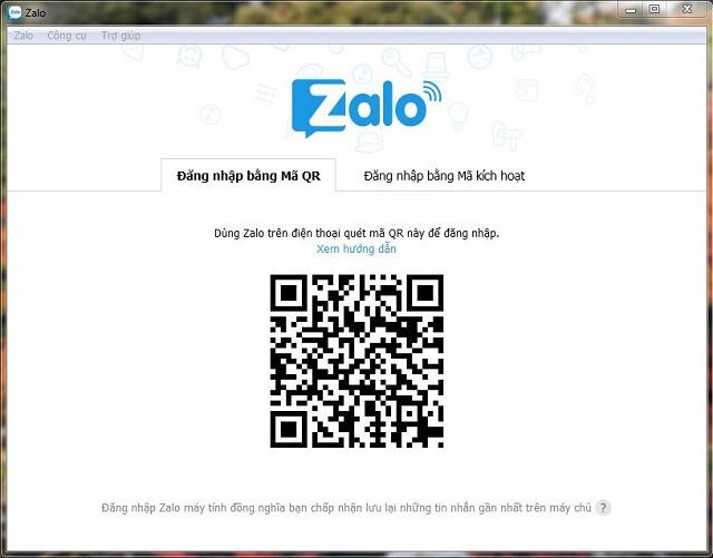Bước 1: cài đặt ứng Zalo về máy