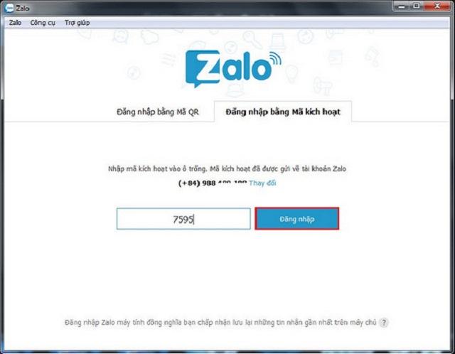 Bước 4: nhập mã xác nhận và đăng nhập