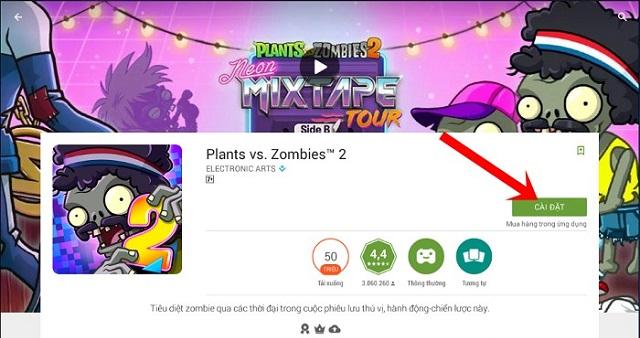 Nhấn chọn cài đặt để bắt đầu tải game về máy