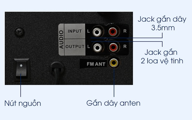 Kiểm tra các jack cắm kết nối của loa.