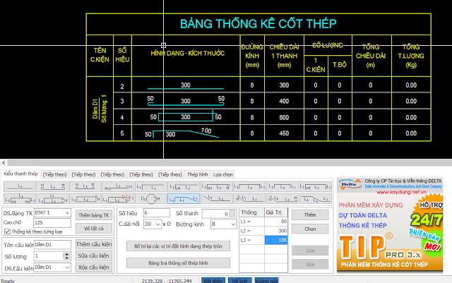 Sơ lược về phần mềm thống kê thép delta tip 3.5 full crack