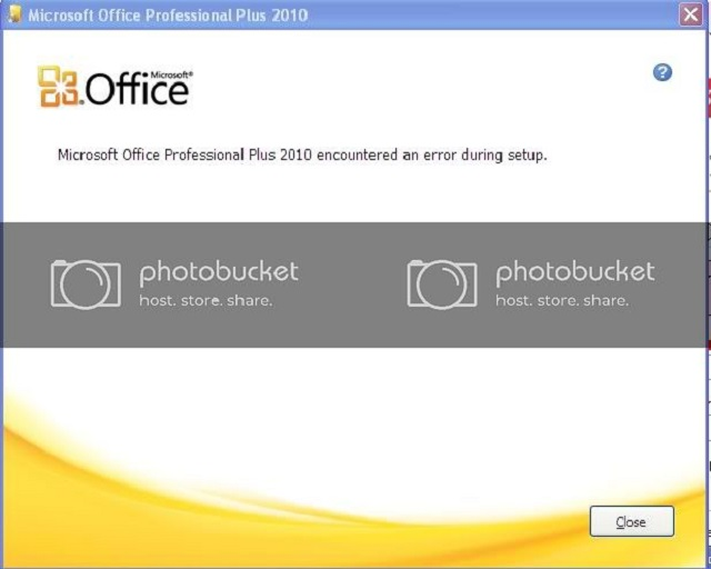 Lỗi microsoft office professional plus 2010 encountered an error during setup