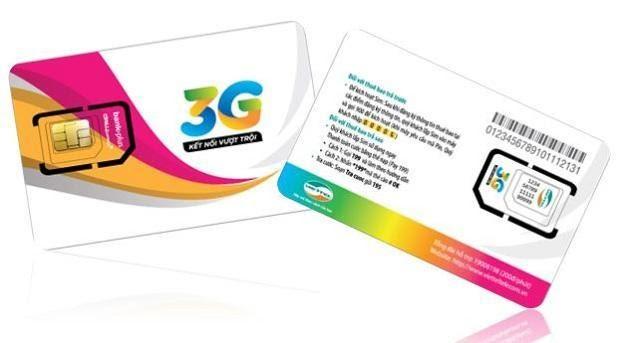 Sim 3G của nhà mạng Viettel